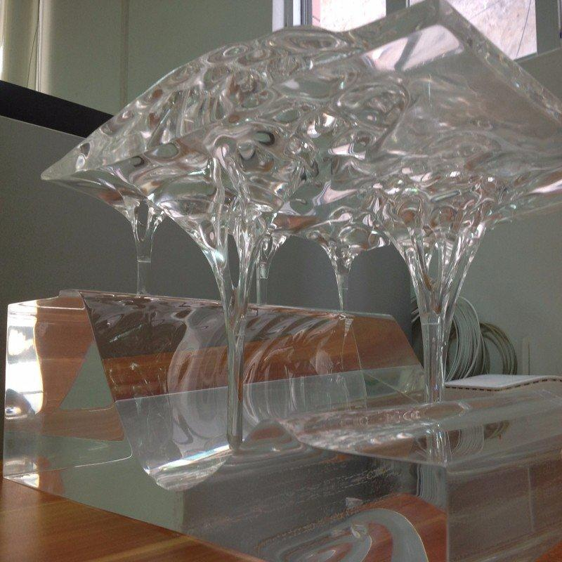 Transparent Plastic cnc machining case prototype Building model arts and crafts
