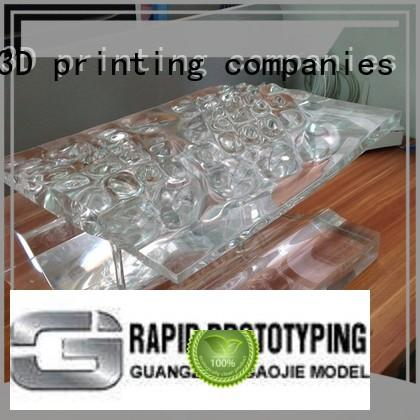 Gaojie Model commercial 3d print transparent plastic personalized for factory