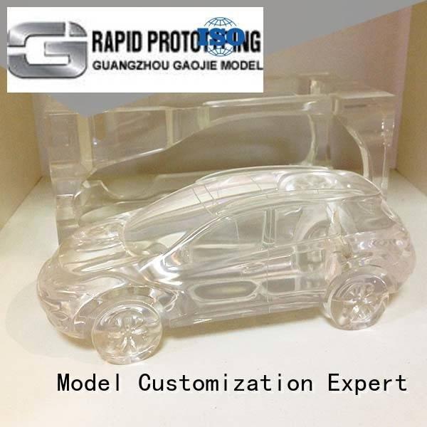 3d print transparent plastic machined parts modeling Gaojie Model