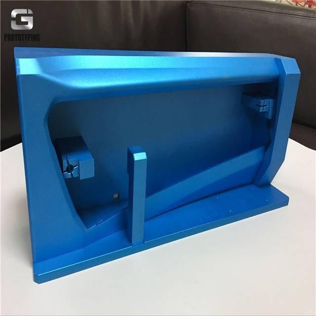High glossy blue anodizing precision precis ion cnc machining rapid prototyping china
