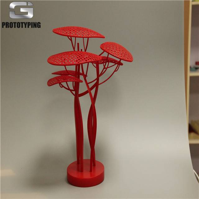 Art tree SLA technology with red matt painting