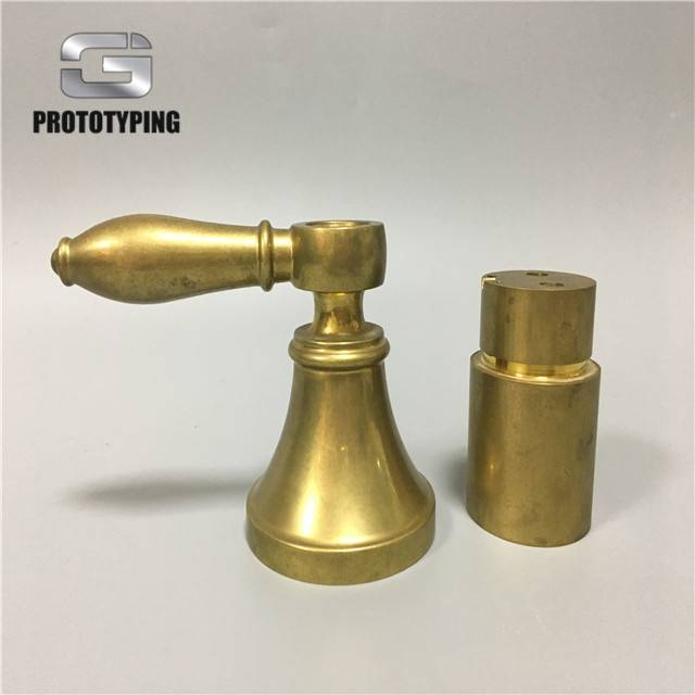 Polished brass components by CNC machining