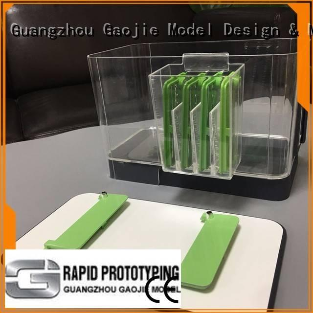 Gaojie Model polished abs Transparent Prototypes glass custom