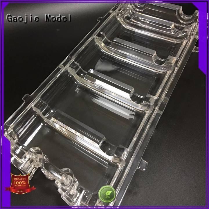 Gaojie Model 3d print transparent plastic spare crystal plastic