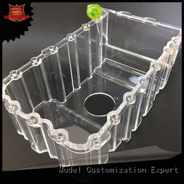 Hot 3d print transparent plastic quality cases machining Gaojie Model Brand