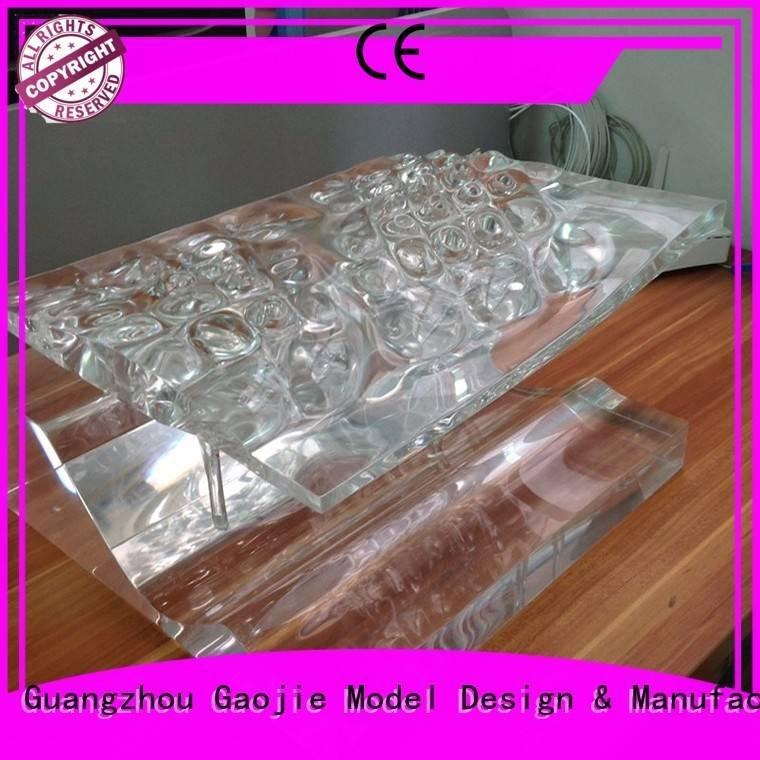 prototypes custom 3d print transparent plastic Gaojie Model
