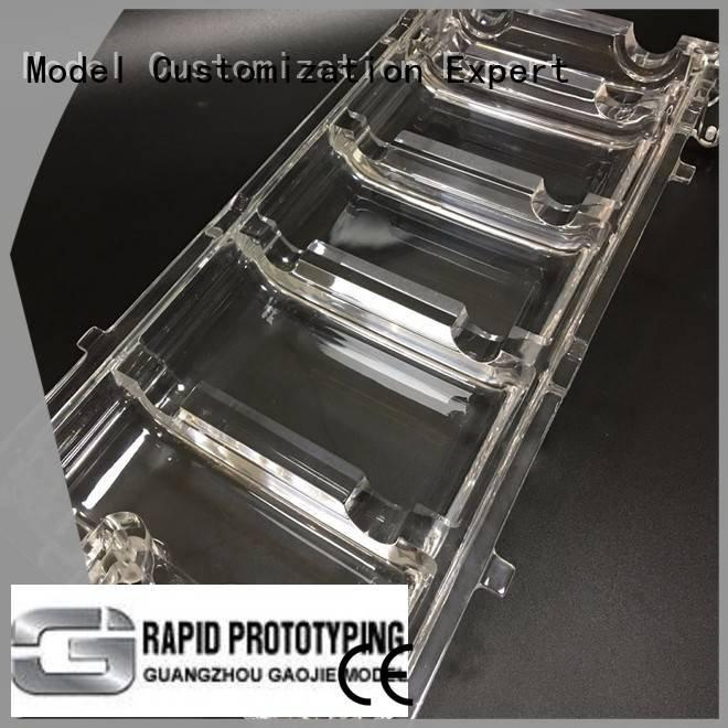 3d print transparent plastic crafts custom OEM Transparent Prototypes Gaojie Model