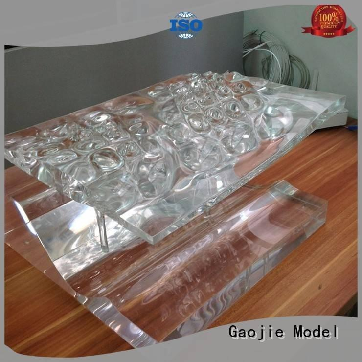 Gaojie Model 3d print transparent plastic crystal pump qualified