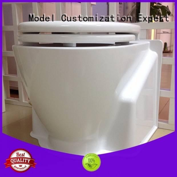 cnc plastic machining models toilet custom plastic fabrication Gaojie Model Warranty